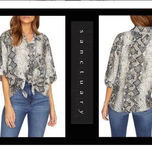 Sanctuary reptile print blouse